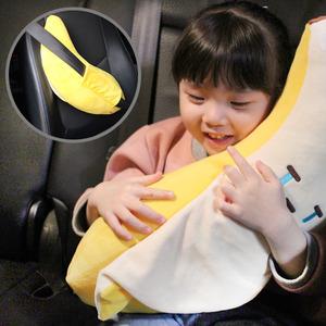 코튼푸드 바나나 안전벨트 인형 스마일